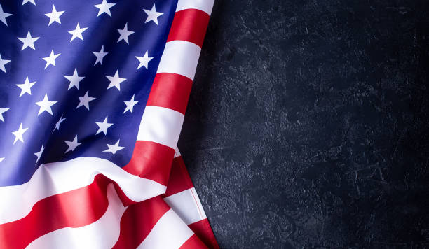 Usa flag on dark background us, flag, united states, black, dark, background day 4 stock pictures, royalty-free photos & images