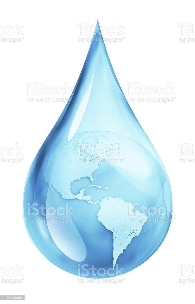 Usa in water drop stock photo