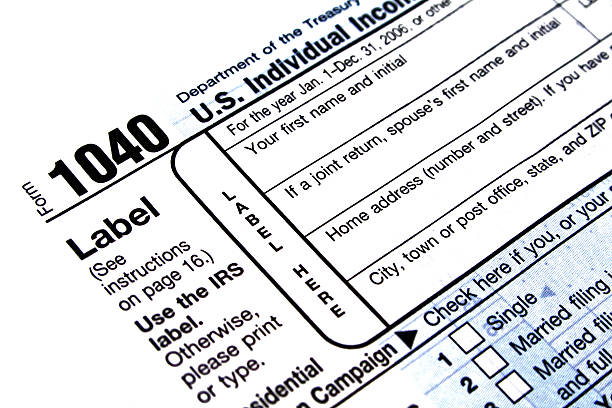 usa tax form  1040 tax form stock pictures, royalty-free photos & images