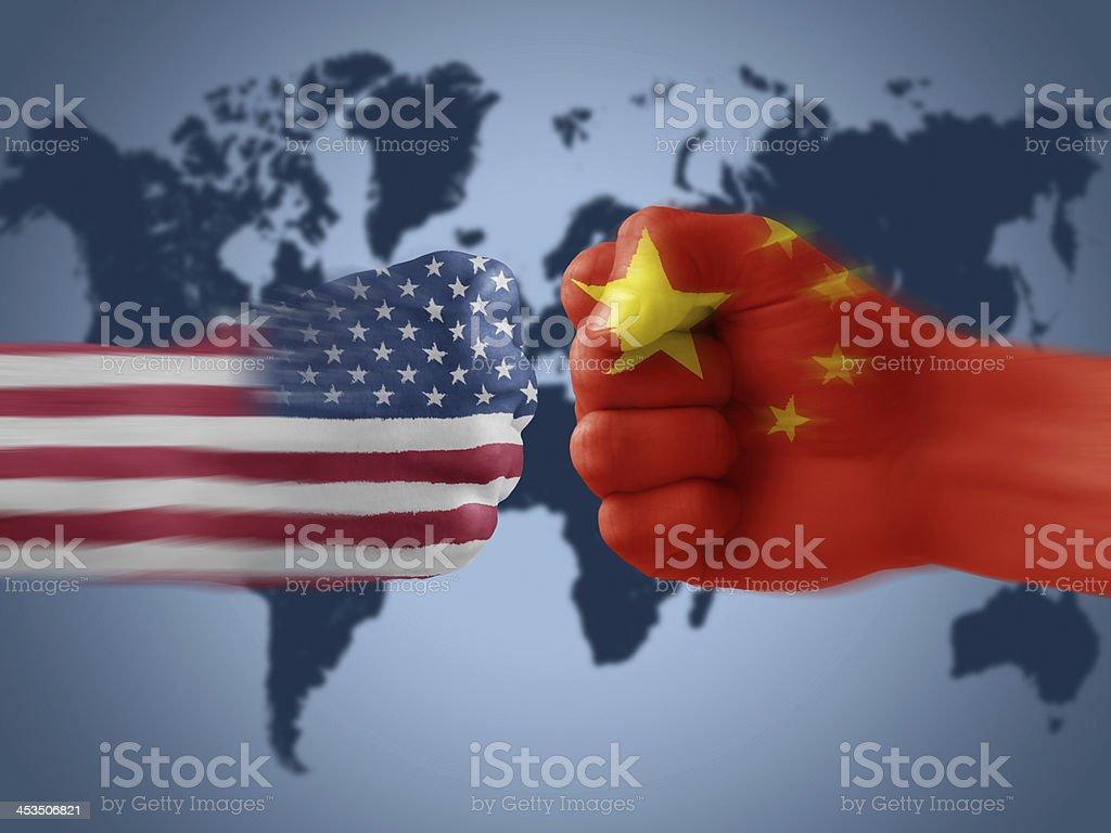 usa x china royalty-free stock photo