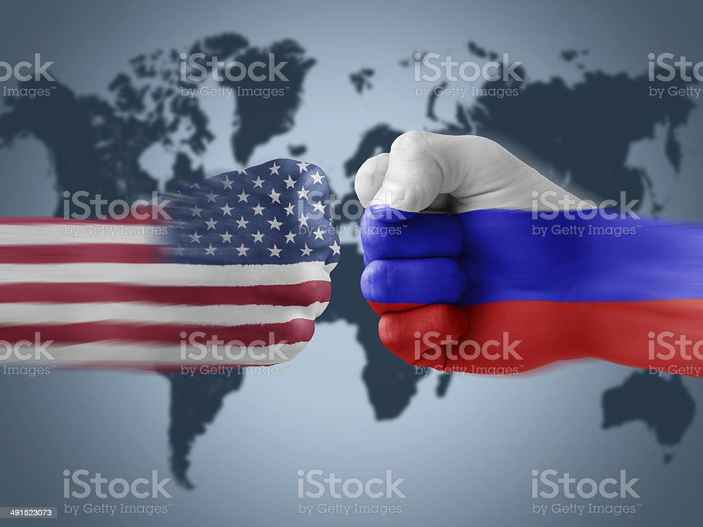usa x russia stock photo