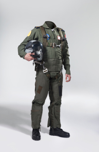 Usable Fighter Pilots Body With His Helmet Stock Photo - Download Image Now