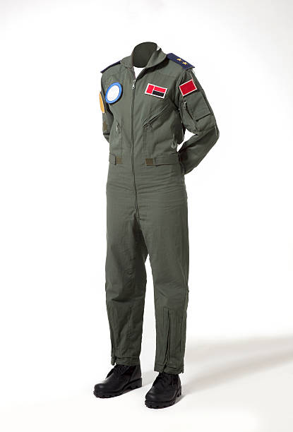 Usable fighter pilot's body without head Fighter pilot's body without head to use for retouch. major military rank stock pictures, royalty-free photos & images