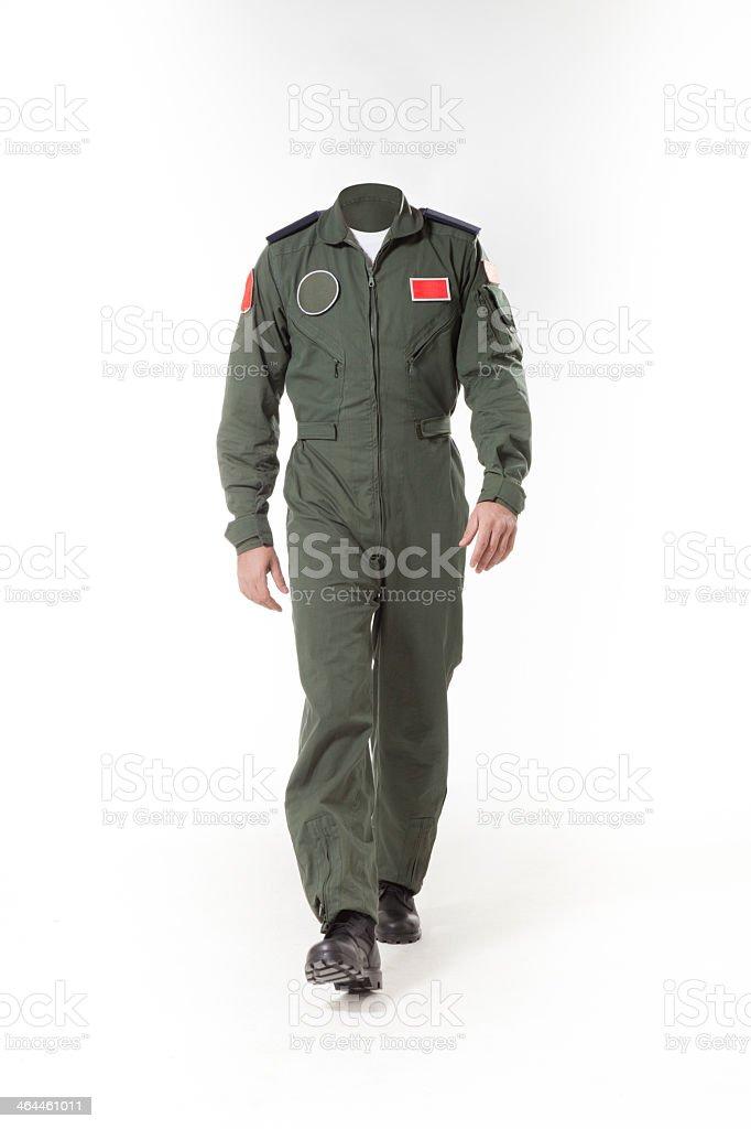 Utilisable pilote de chasse du corps sans tête à utiliser pour retoucher - Photo