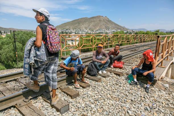 USA/Mexico Border - Migrants stock photo