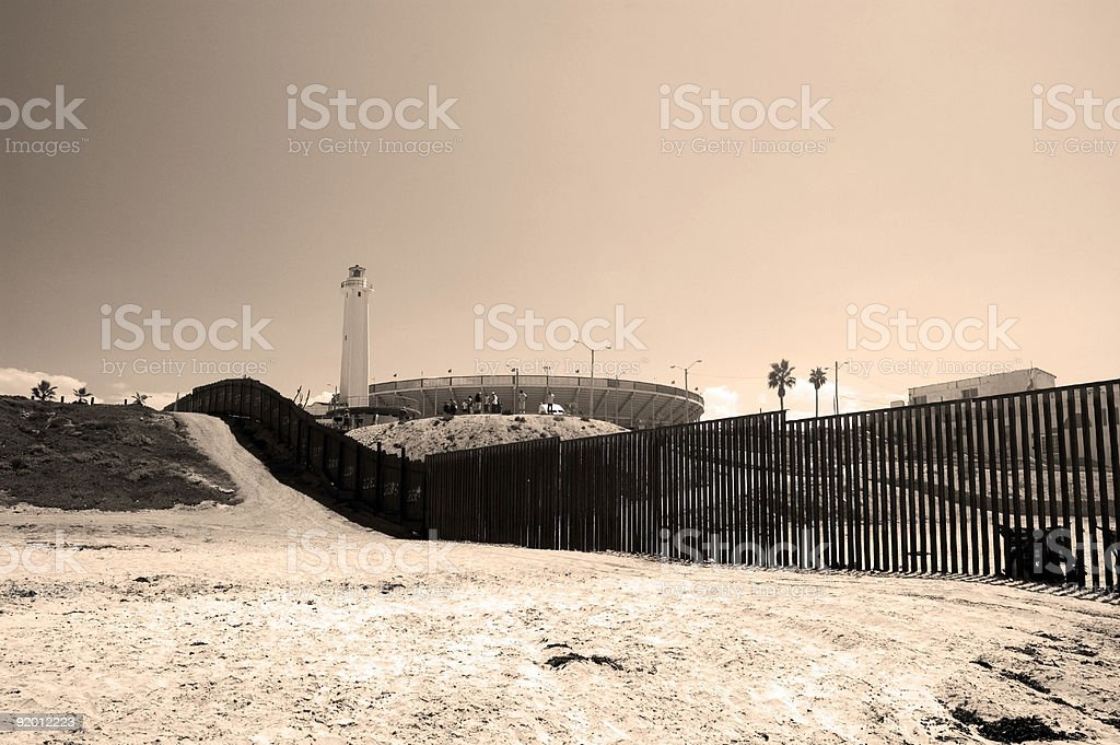 USA/Mexico Border royalty-free stock photo