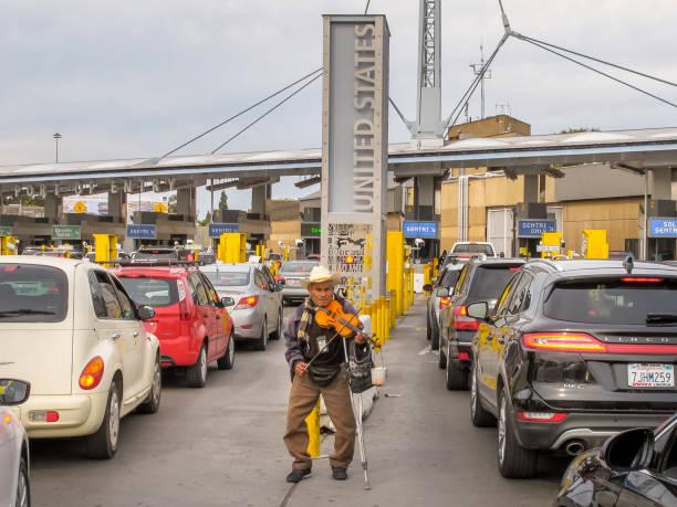 Frontière entre les Etats-Unis et le Mexique-frontière de San Ysidro - Photo