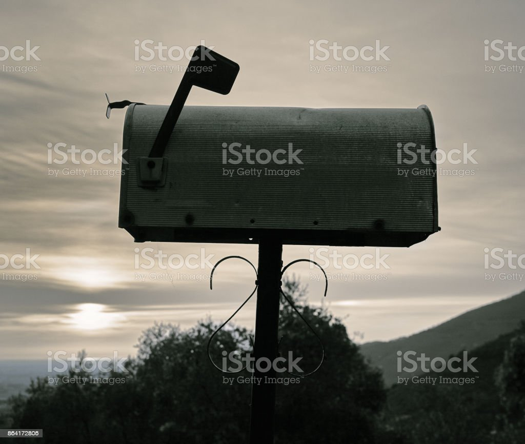 USA-style mailbox in Tuscan countryside - scenic royalty-free stock photo