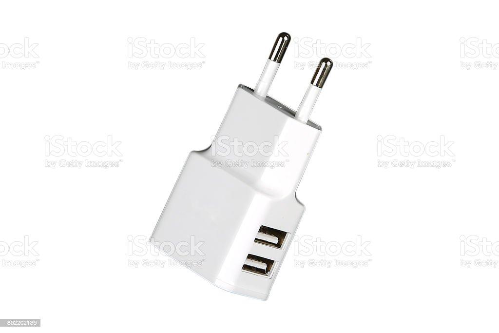 Usb adapter isolated stock photo