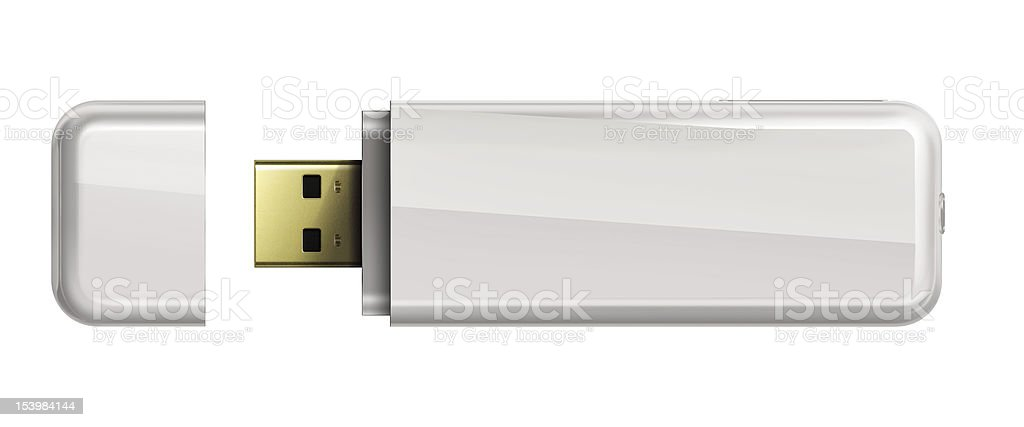 Usb flash memory isolated on white background. royalty-free stock photo