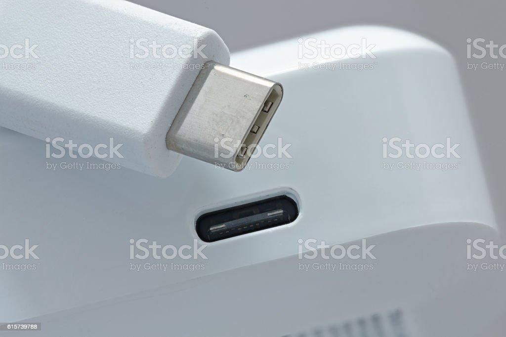 usb type-c stock photo