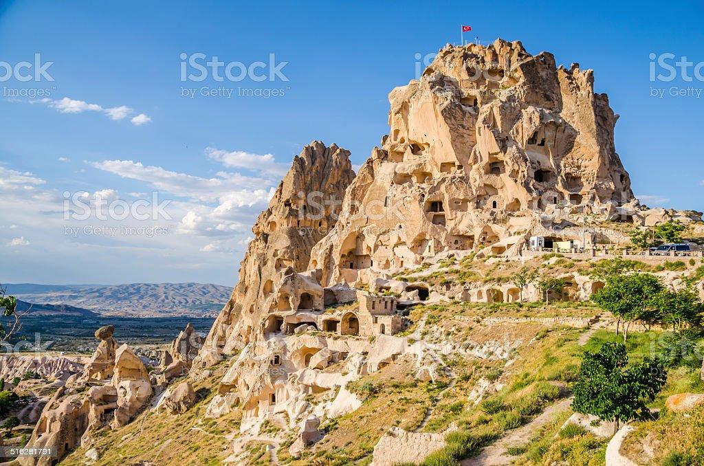 Uschisar Castle , Cappadcia stock photo