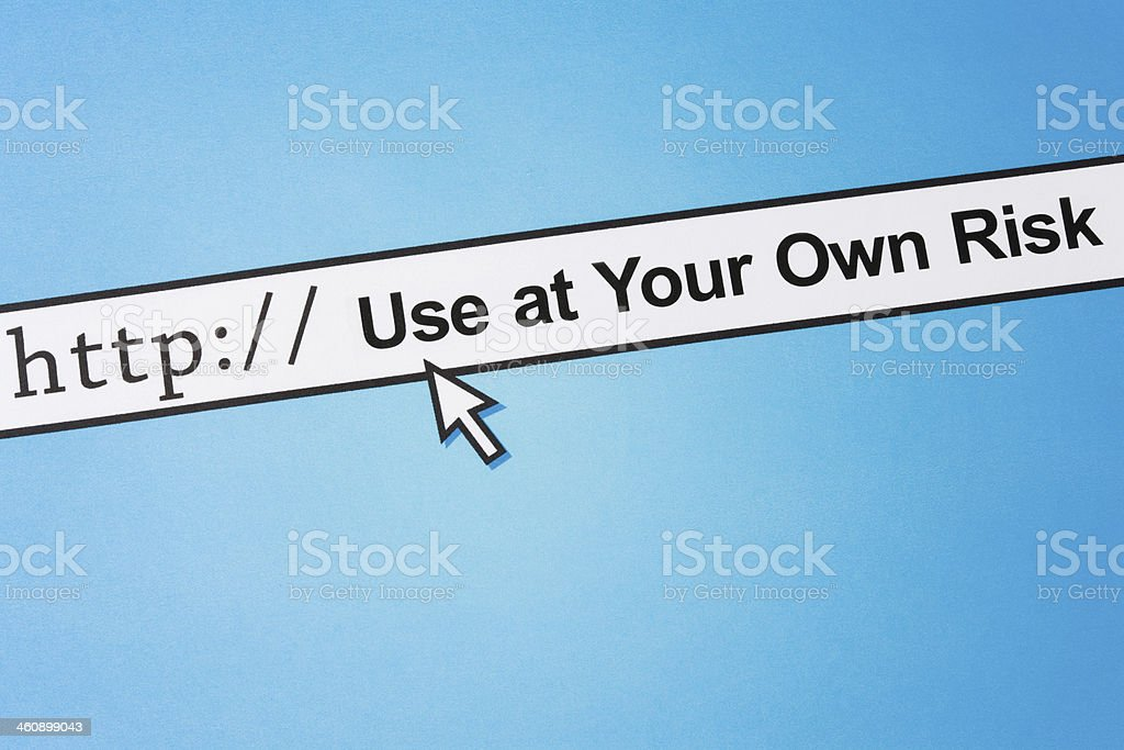 Use at your own risk stock photo