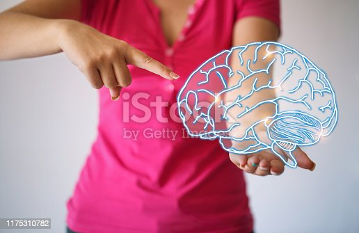 istock Use brain - lighting brain and brainstorming concept 1175310782