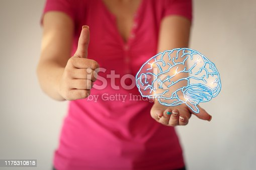 istock Use brain - lighting brain and brainstorming concept 1175310818