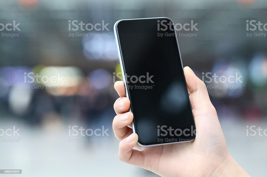 Use of mobile phone stock photo