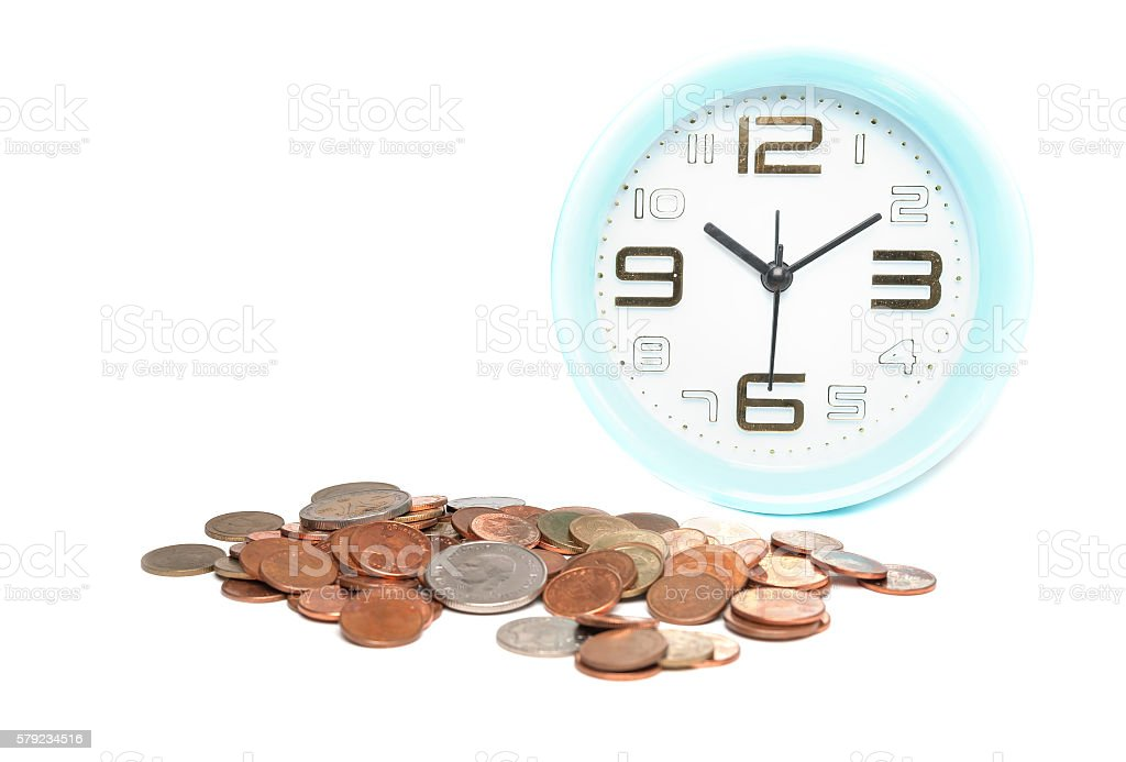 Use time and money for cure concept stock photo