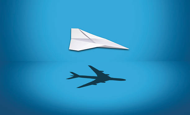 use your imagination - paper airplane stock photos and pictures