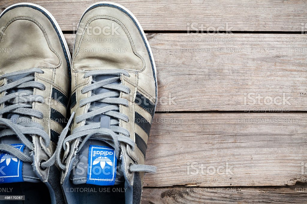Used adidas shoes stock photo