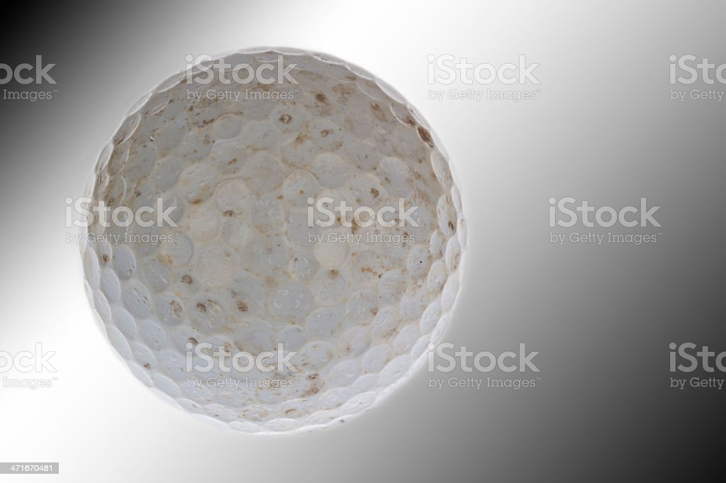 used an dirty golf ball royalty-free stock photo