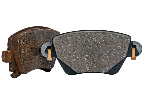 used and new brake pad