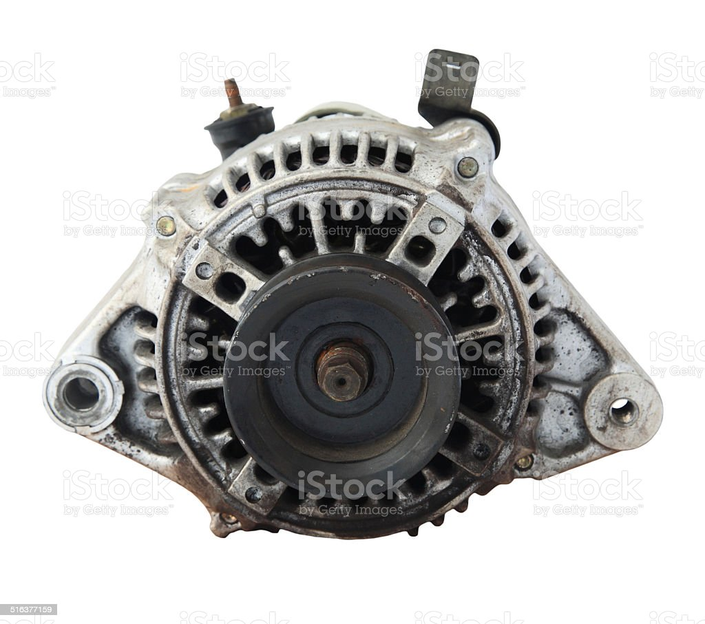 Used automobile generator or Dynamo for recycle stock photo