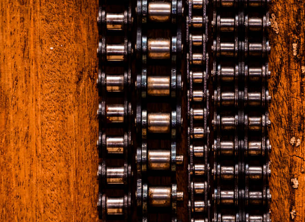 Used Automotive Gear Chain stock photo
