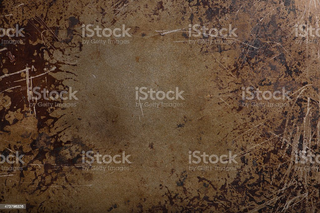 used baking tray or pan as background object stock photo
