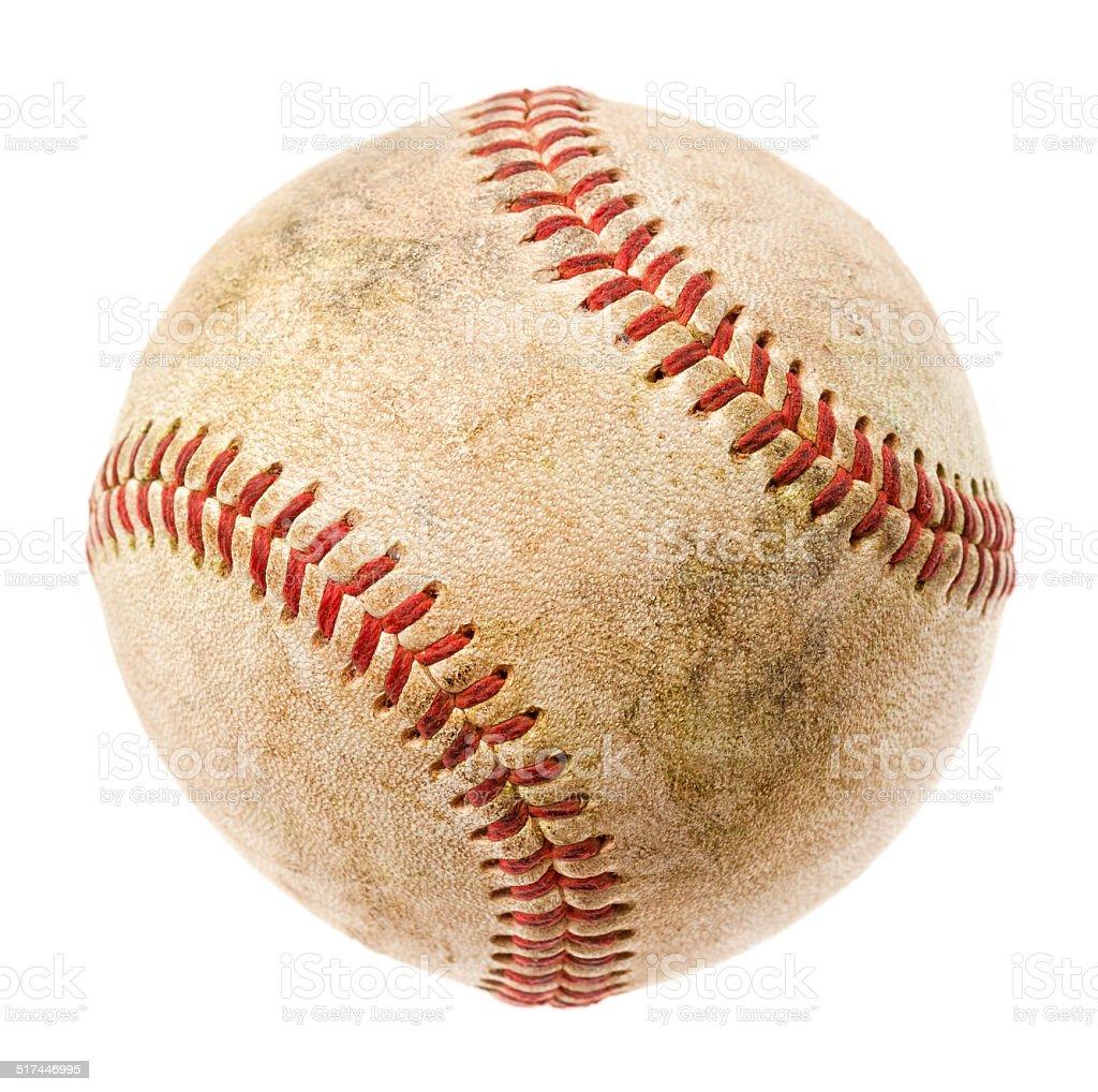 Used Baseball Isolated on White stock photo