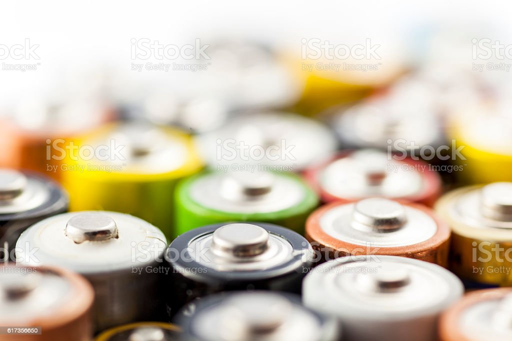 used batteries bildbanksfoto