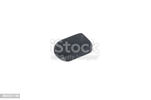 istock used black eraser rubber isolated on white background 865352186