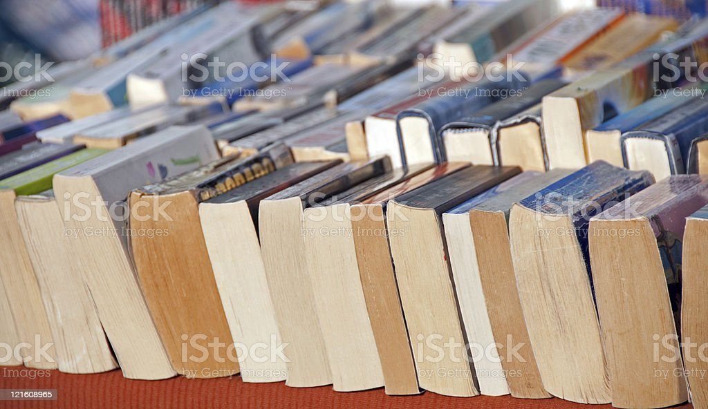 Used Book Sale royalty-free stock photo