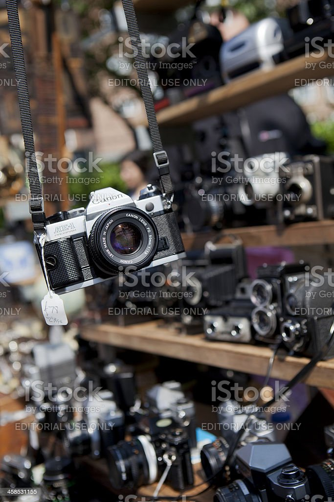Used Cameras For Sale stock photo
