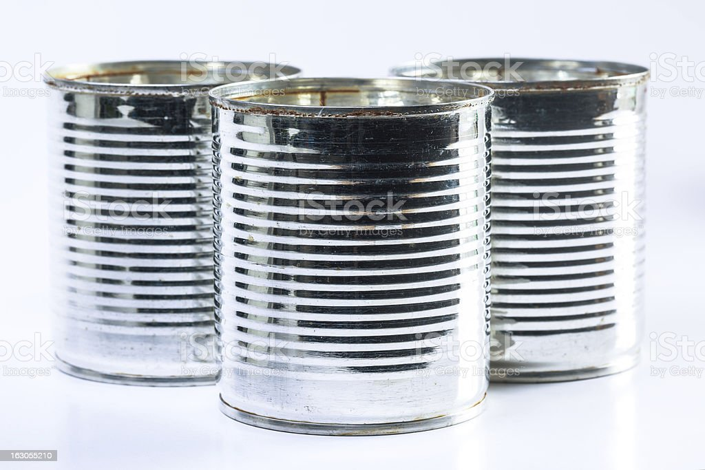 used can on white background royalty-free stock photo