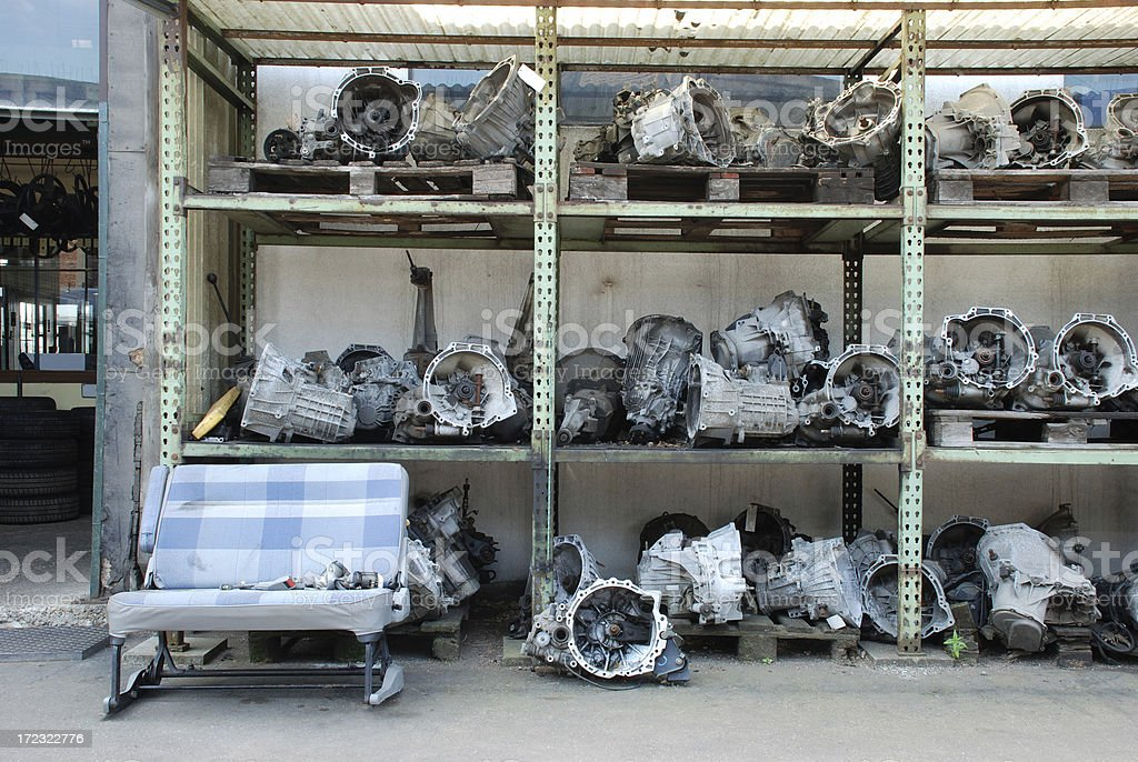 Used car engines for sale royalty-free stock photo