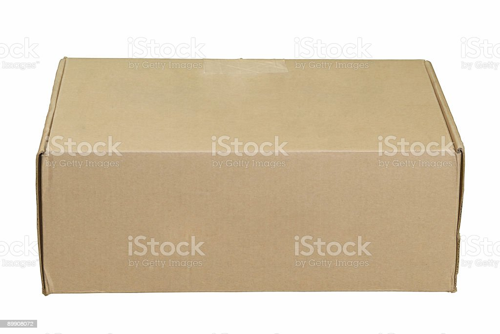 Used Cardboard Box royalty-free stock photo