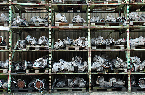 Used care engines for sale stock photo