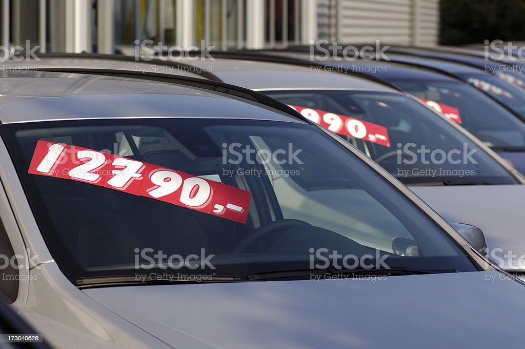 Used cars for sale stock photo