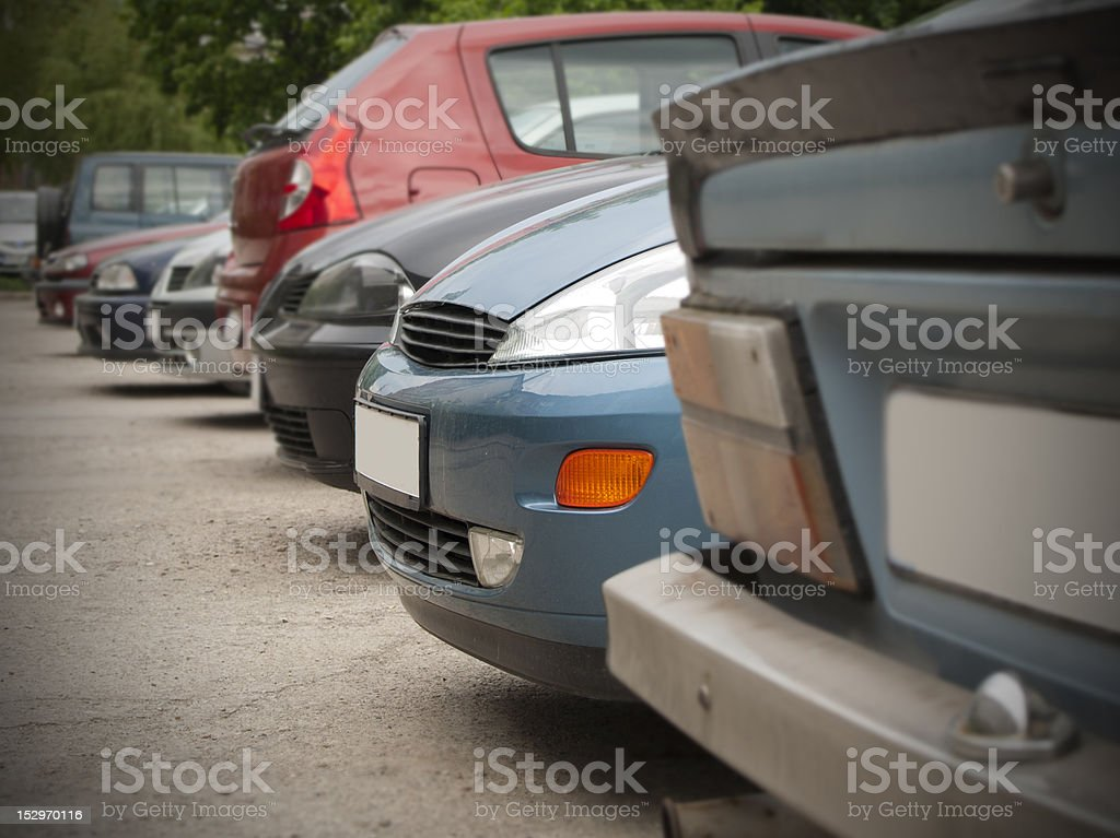 Used cars royalty-free stock photo