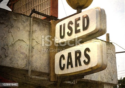 istock used cars sign 1026976462
