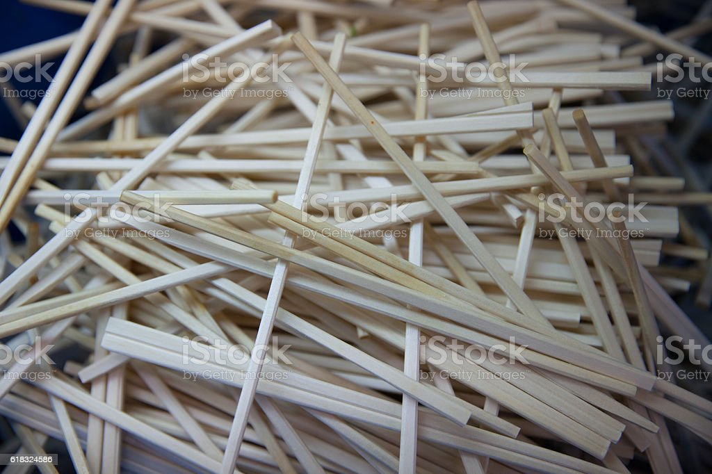 Used Chopsticks stock photo