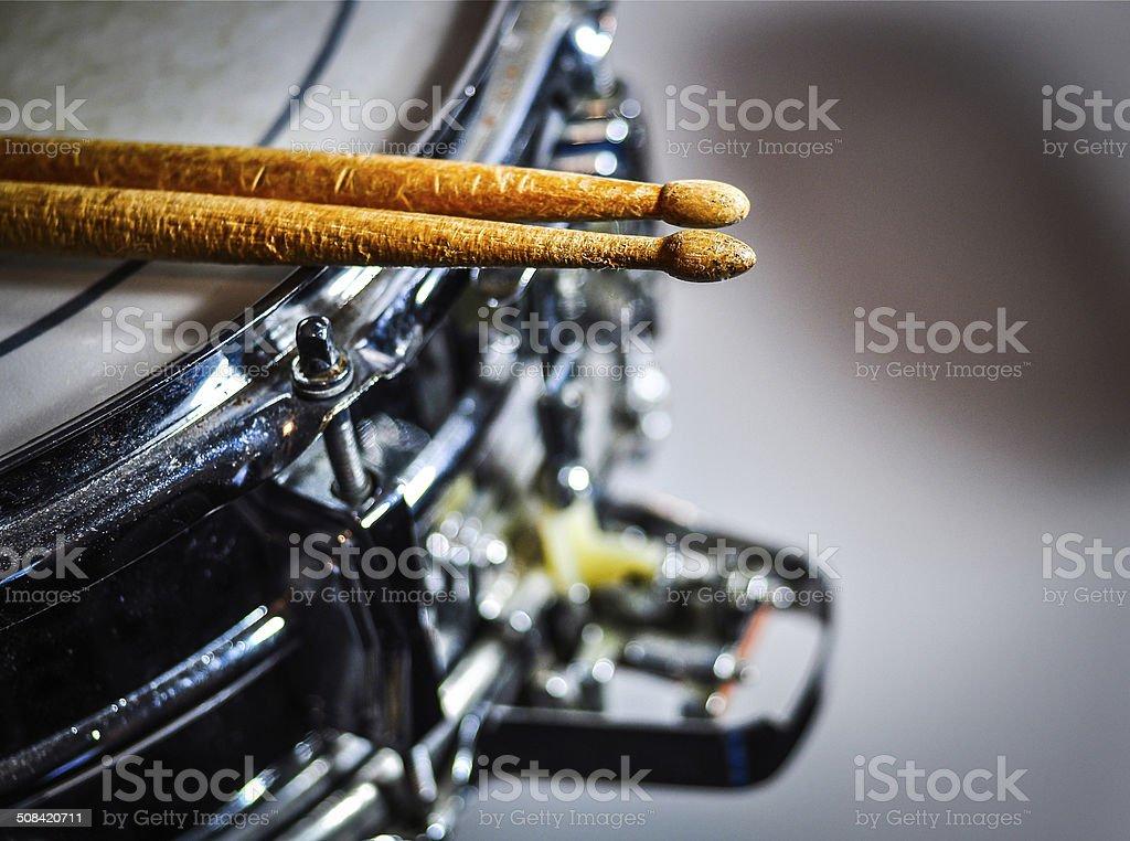 Used Drumsticks stock photo