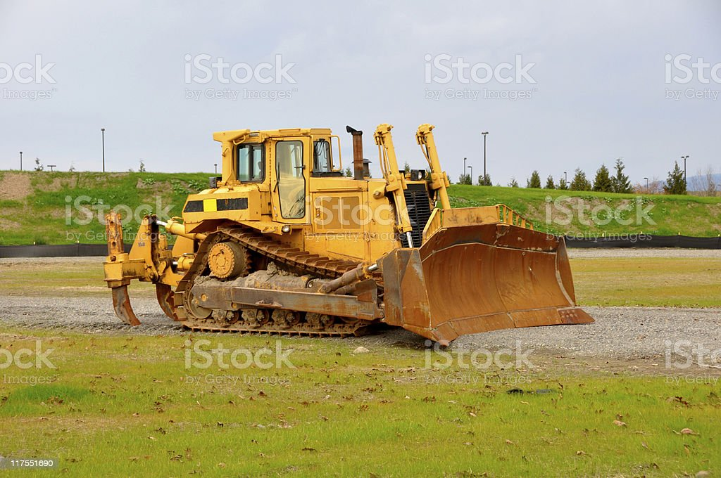 Used Earth Mover stock photo