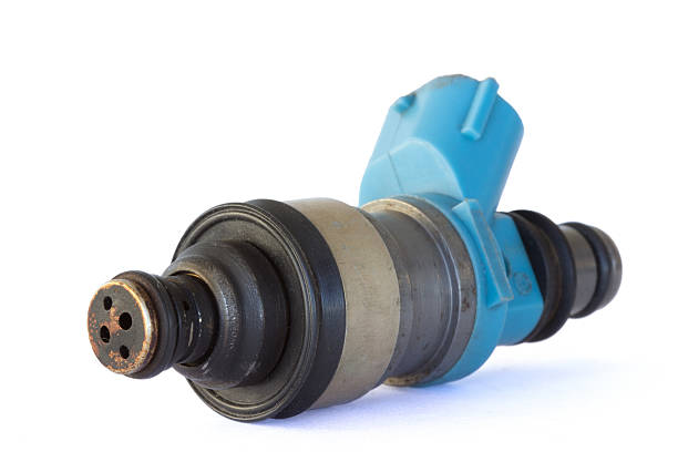 Used fuel injector stock photo