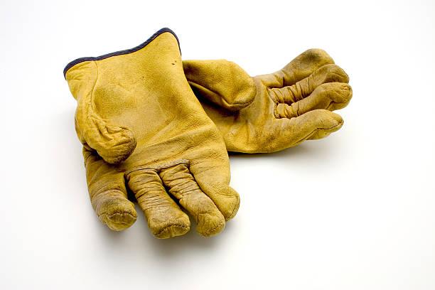 verwendet handschuhe - arbeitshandschuhe stock-fotos und bilder