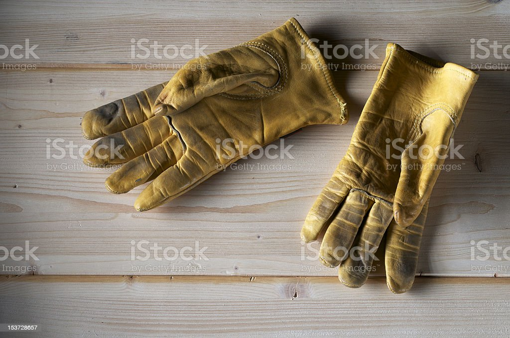used gloves stock photo