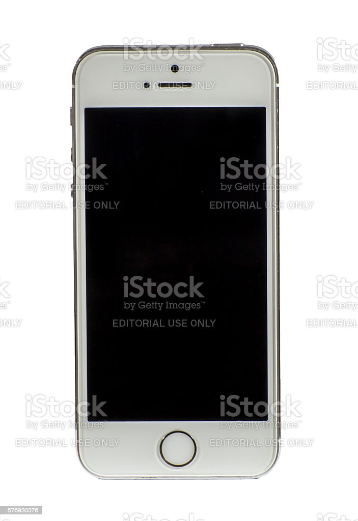 Used Iphone 5S isolated on white stock photo