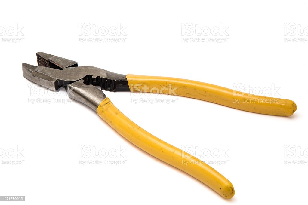 Used Lineman's pliers royalty-free stock photo