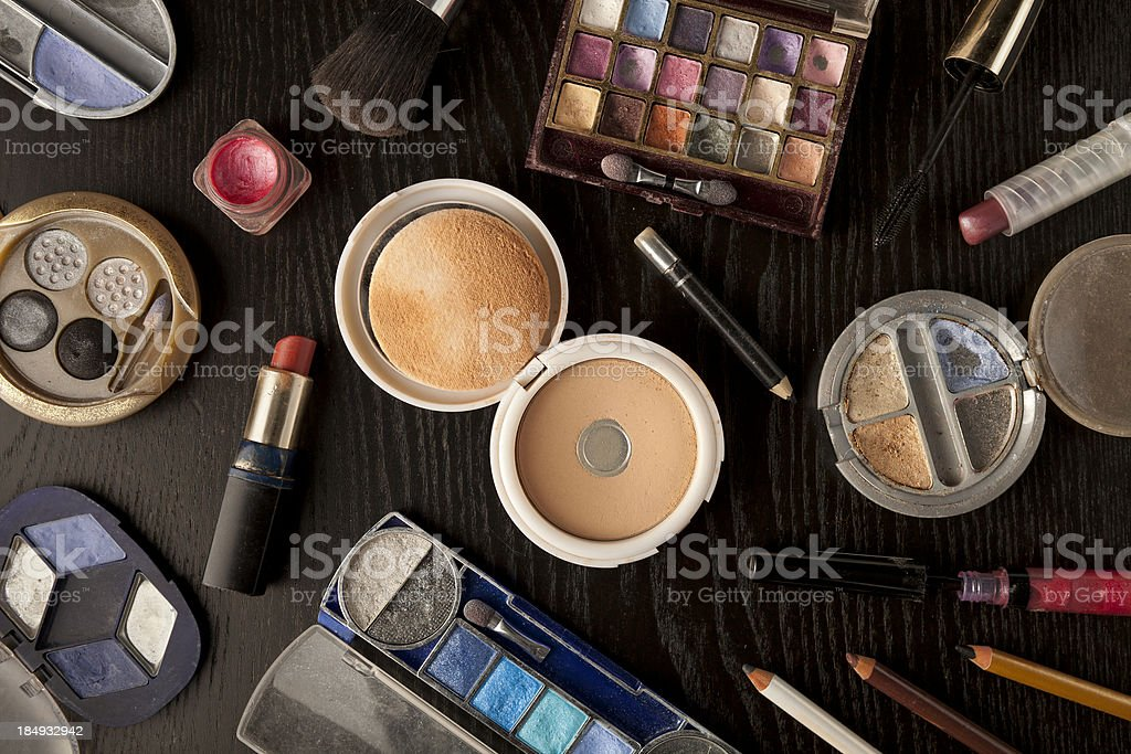 used make-up equipment stock photo