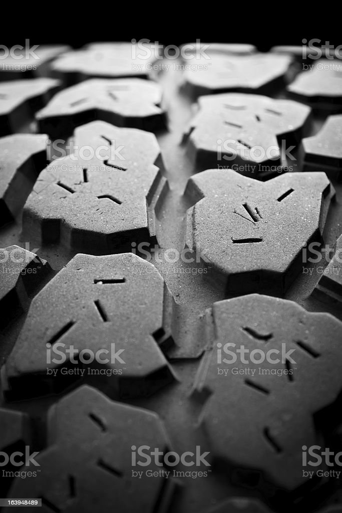 Used Mud Tire stock photo